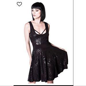 Killstar Vicky Veil Skater Dress
